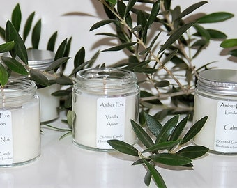 Vanilla Anise Candle with a silver lid