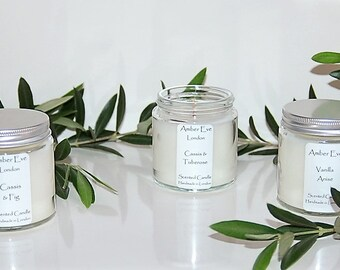 Mint & Eucalyptus Candle with a silver lid