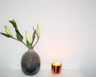 Amber Noir 3 Wick Copper Candle