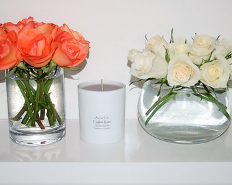 English Rose Candle with grey wax
