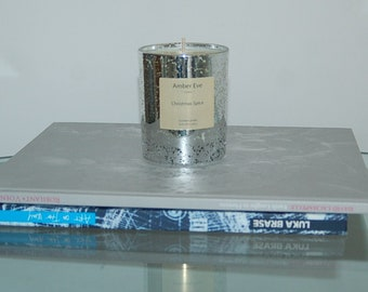 Christmas Spice Luxury Silver Candle
