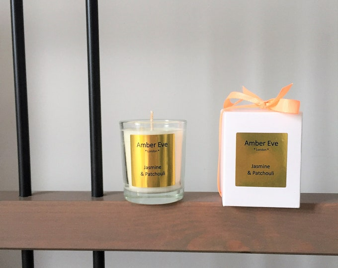Jasmine & Patchouli Small Scented Candle