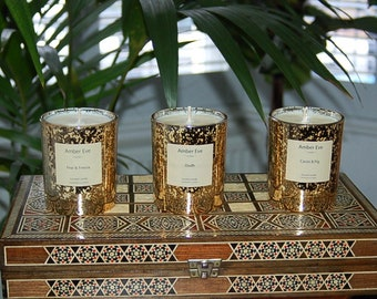 Orchid & Lotus Blossom Luxury Gold  Candle