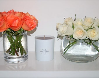 Mint & Eucalyptus scented candle with grey wax