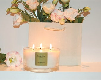 Amber Noir 3 Wick candle
