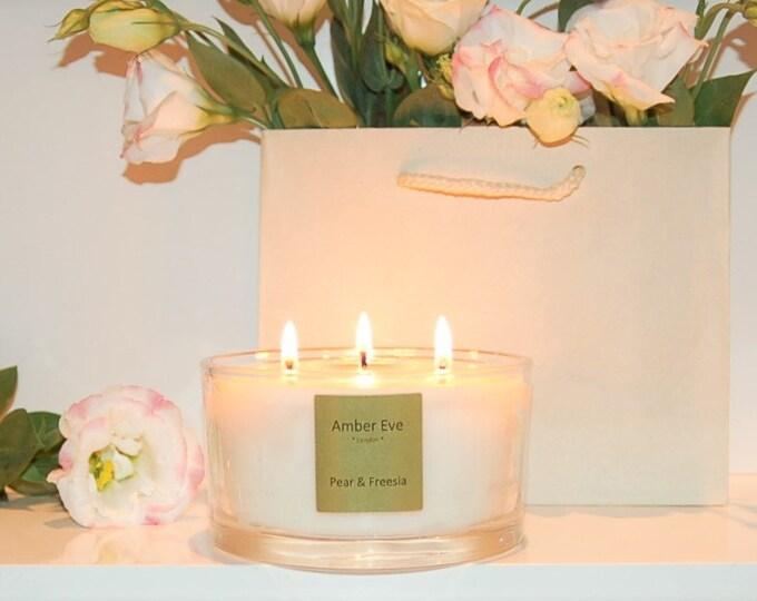 Pear & Freesia 3 Wick Candle