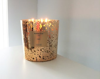 Calm 3 Wick Gold Candle