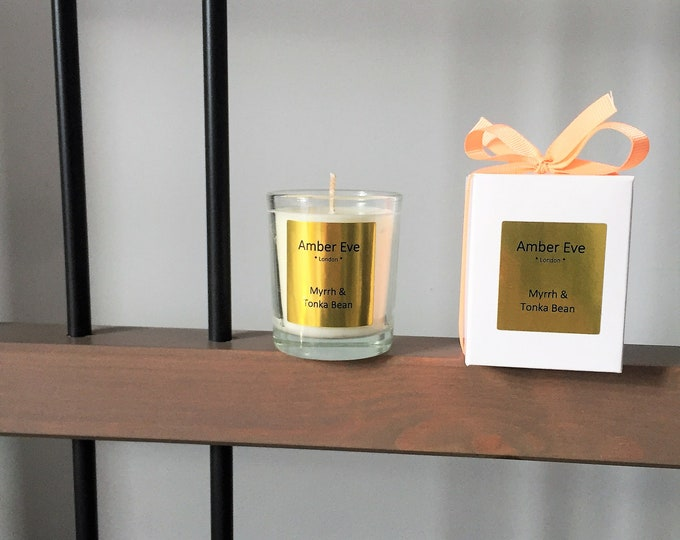 Myrrh & Tonka Bean Small Scented Candle