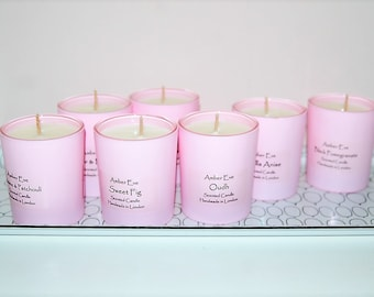 White Musk & Amber Pink Candle