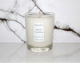 Myrrh & Tonka Bean Scented Candle