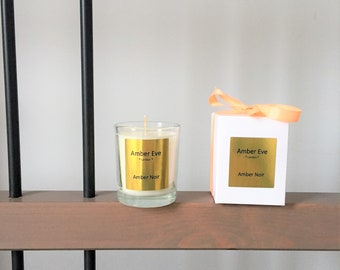 Amber Noir Small Scented Candle