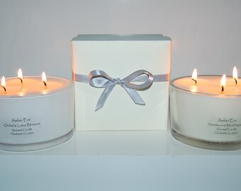 White Musk & Amber 3 Wick candle