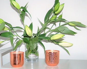 Jasmine & Patchouli 3 Wick Copper Candle