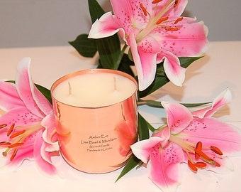 Lime Basil & Mandarin Copper Luxury Candle