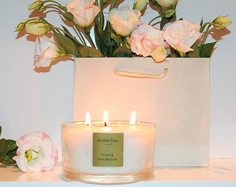 Orchid & Lotus Blossom 3 Wick Candle