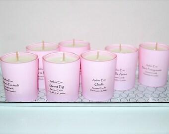 Sandalwood & Black Pepper Pink Candle