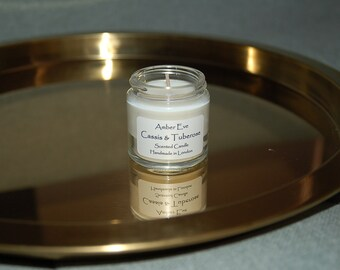 Cassis & Tuberose Small Candle with a silver lid