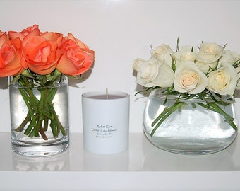 Orchid & Lotus Blossom candle with grey wax