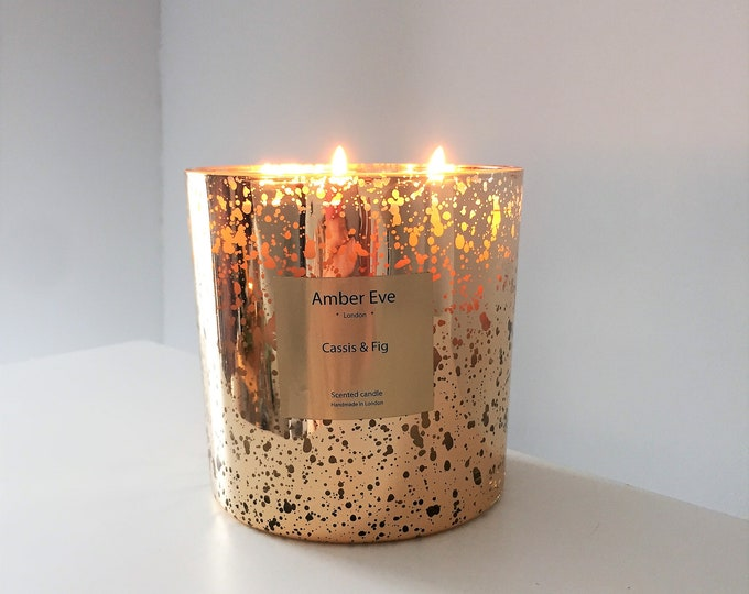 Cassis & Fig 3 Wick Gold Candle