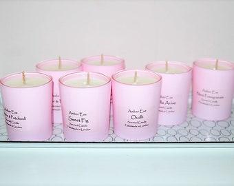 English Rose Pink Candle
