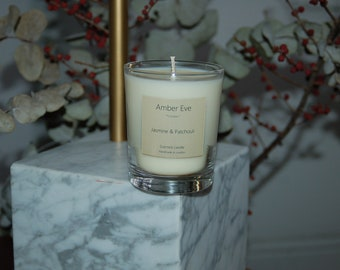 Jasmine & Patchouli Scented Candle