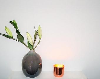 Lime Basil & Mandarin 3 Wick Copper Candle