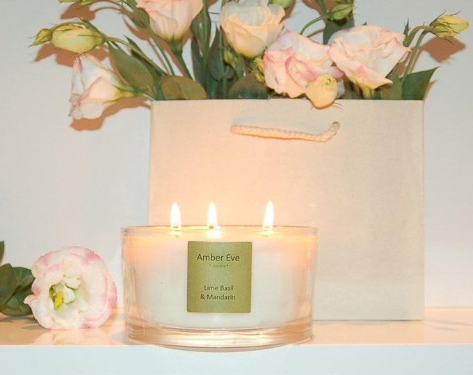 Lime Basil & Mandarin 3 Wick Candle