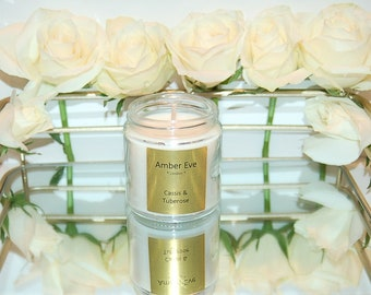 Cassis & Tuberose Candle with a silver lid