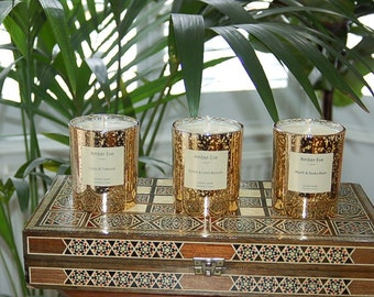 Myrrh & Tonka Bean Luxury Silver Candle