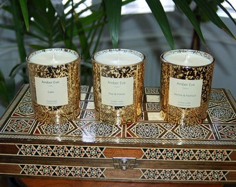 Jasmine & Patchouli Luxury Gold Candle