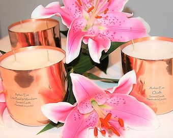 Orchid & Lotus Blossom Copper Luxury Candle