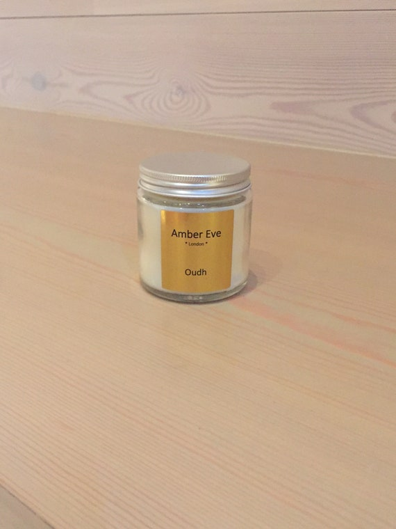 Oudh Candle with a silver lid