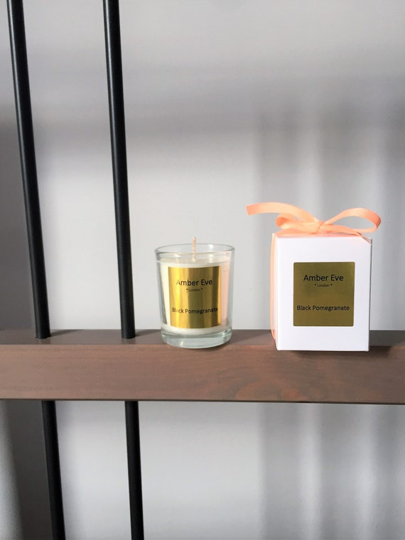 Black Pomegranate Small Scented Candle