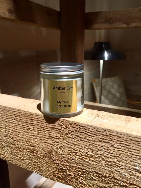 Myrrh & Tonka Bean Candle With a Silver Lid