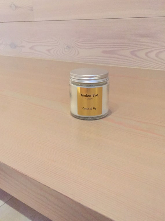 Cassis & Fig Candle with a silver lid