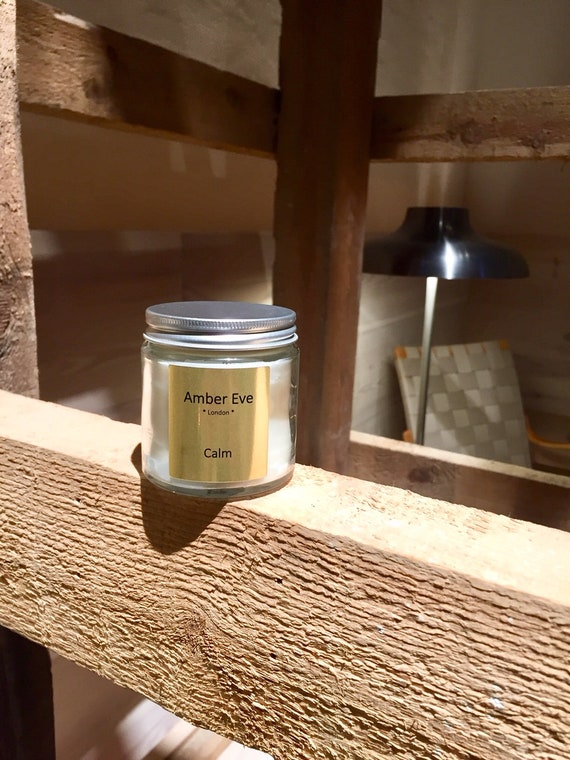 Calm Candle with a silver lid