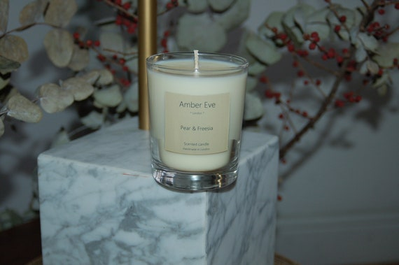 Pear & Freesia Scented Candle