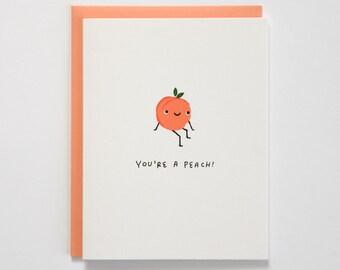 You're A Peach Thank You Card