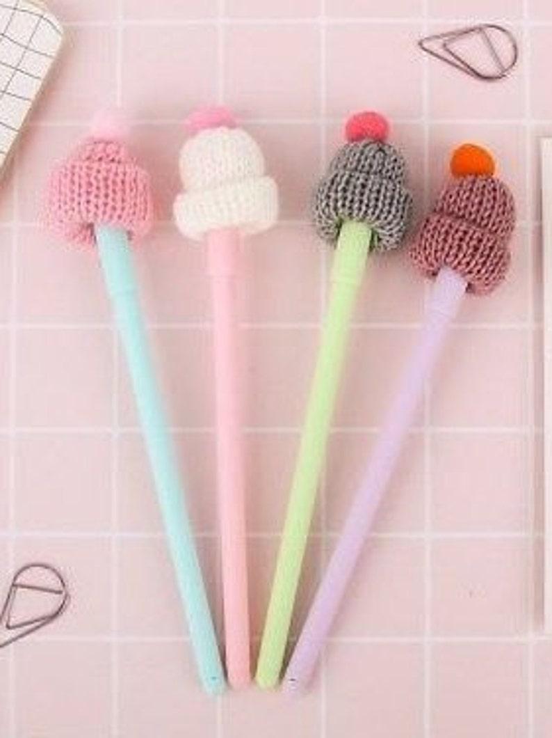 Knitted Hat Ballpoint Pens Knitted Hat Gel Pens Office Supplies Knitted Hat Pens Novelty Pens Knitted Cap Pens School Supplies