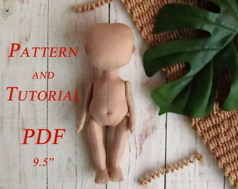 Doll Patterns - Rag Doll Pattern - Doll Pattern - Sewing Patterns - PDF Tutorial - Blank Doll Body - PDF Pattern - Sewing Tutorial