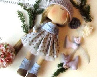 Set für selbst Schneiderei - Textil-Puppe - Stoffpuppe - Puppen - Stoffpuppe - Tilda Puppe - innen Puppe - Rag Doll Muster - Weihnachts-Geschenk