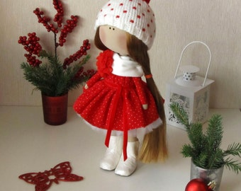 Set für Puppen tailoring Textil-Stoff Puppe-Handgefertigte Puppen-Rag-Spielzeug-Interior Puppe-Weihnachtsgeschenk-Dolls