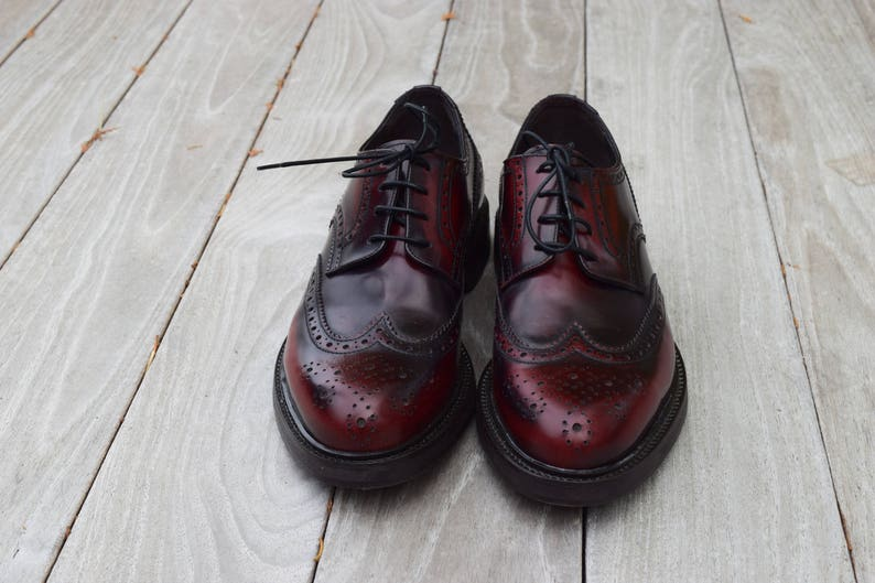 Men S Shoes Real Leather English Model Hand Made Made Etsy