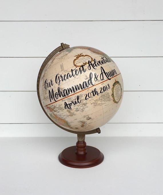 Hochzeit Gästebuch Globus Genesungswünsche Reise Zitate Individuelles Angebot Kalligraphie Globus 12 Durchmesser Globus