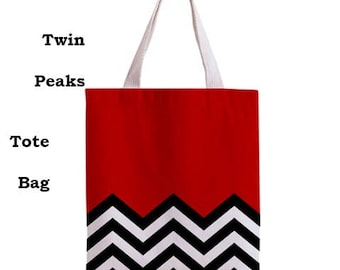 Twin Peaks tote bag, 90s, Tote bag, music, 90s tv shows,twin peaks, 90s tv, david lynch, cult, bags, tote