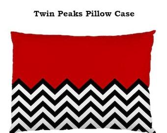 Twin Peaks Pillow Case, pillow, bedding, bedrrom,Tv, 90s, cult, tv, cult nighnties , David Lynch, Twin Peaks