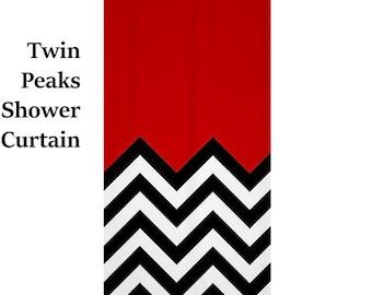 Twin Peaks SHower Curtaintwin Shower Bath Curtain 90s Retro Cult