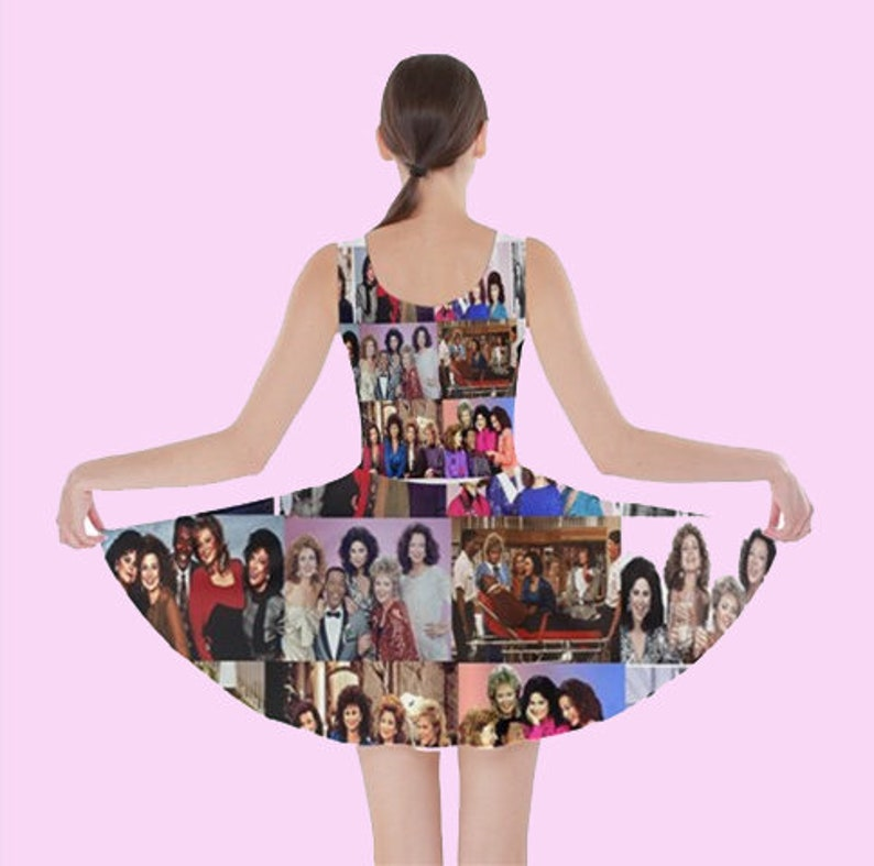 pattern Designing Women Skater DRess cult tv tv show designing women 80s dress tv shows