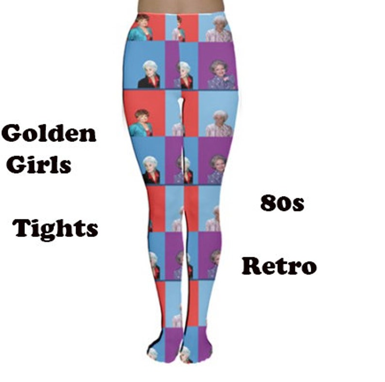 e6d0a733a44 Golden Girls tights, tights, fashion, 80's,80's pattern, fun, golden girls  retro, vintage, 80's style