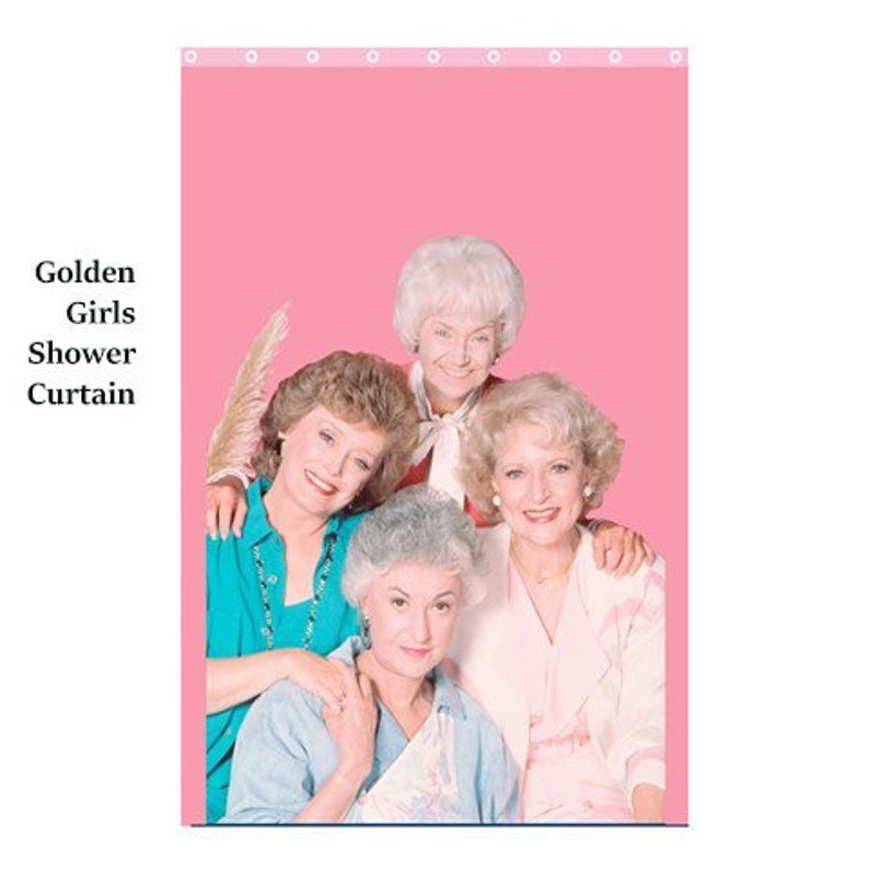 Golden Girls SHower Curtaingolden Shower Bath Curtain 80s Retro Cul